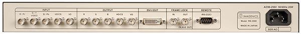 アナログRGBフレームシンクロナイザー IMAGENICS RS-3500背面写真